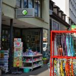 Außenaufnahme Grüner Krebs, Karlsruhe Erbprinzenstraße
